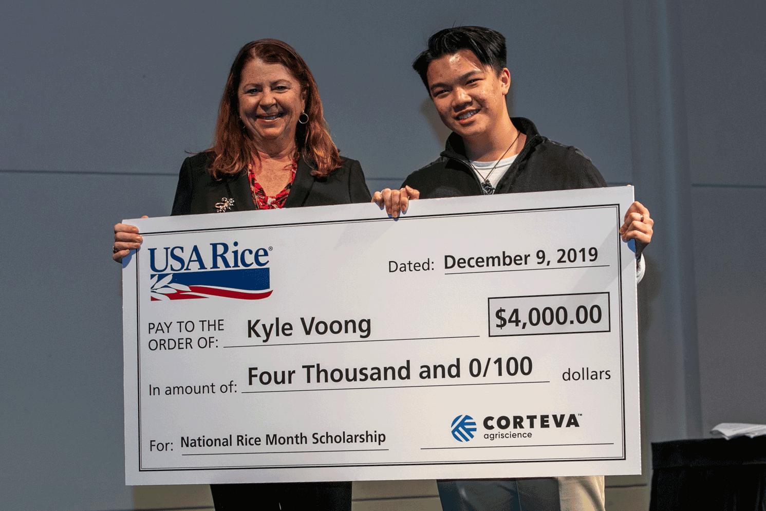 2019 Winner Accepting Award